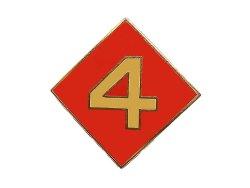 画像1: Deadstock US.Military Pins #751 USMC 4th Marine Division 第4海兵師団 小
