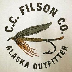 """画像3: Filson Graphic Tee """"Fly Fishing""""Light Stone フィルソンT 毛バリ アメリカ製"""