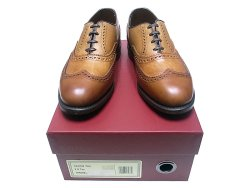 画像1: WOLVERINE 1000 mile Loomis Tan Wing-Tip  Made by Allen Edmonds USA製