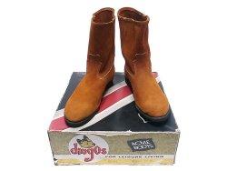 画像1: ACME Dingos Suede Boots 9954 オレンジ・スウェード デッドストック アメリカ製
