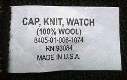 画像2: Deadstock 2000'S US.Military Watch Cap 100% Wool 米軍ニット・キャップ 黒