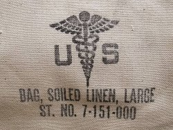 画像1: Deadstock 1953'S US.NAVY Hospital Corpsman LAUNDRY BAG LINEN 米軍実物