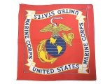 Deadstock 1986-95'S USMC(United States Marine Crops) Bandana アメリカ製
