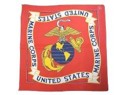 画像1: Deadstock 1986-95'S USMC(United States Marine Crops) Bandana アメリカ製