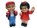 Nancy and Sluggo Rubber Doll 1955'S Vintage  ナンシー&スラゴ 2体セット