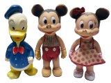 Mickey Minnie Donald 1955'S SUN RUBBER CO.サン・ラバー 3体セット USA製
