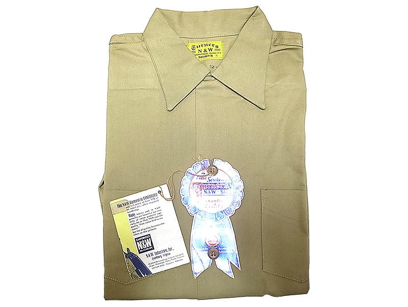Deadstock 1960 39 s n w turners twill work shirts khaki boys for Usa made work shirts